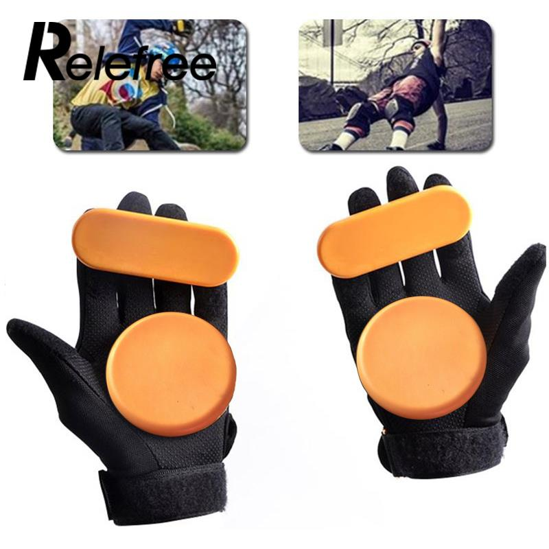 1pc Skateboard Longboard Sliding FreeRide Gloves Replacement Palm Pucks