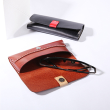 New Hand-made Cortex Eyeglasses Box Retro-high-grade Leather Cover Cowhide Eyewear Cases & Bags BR5049