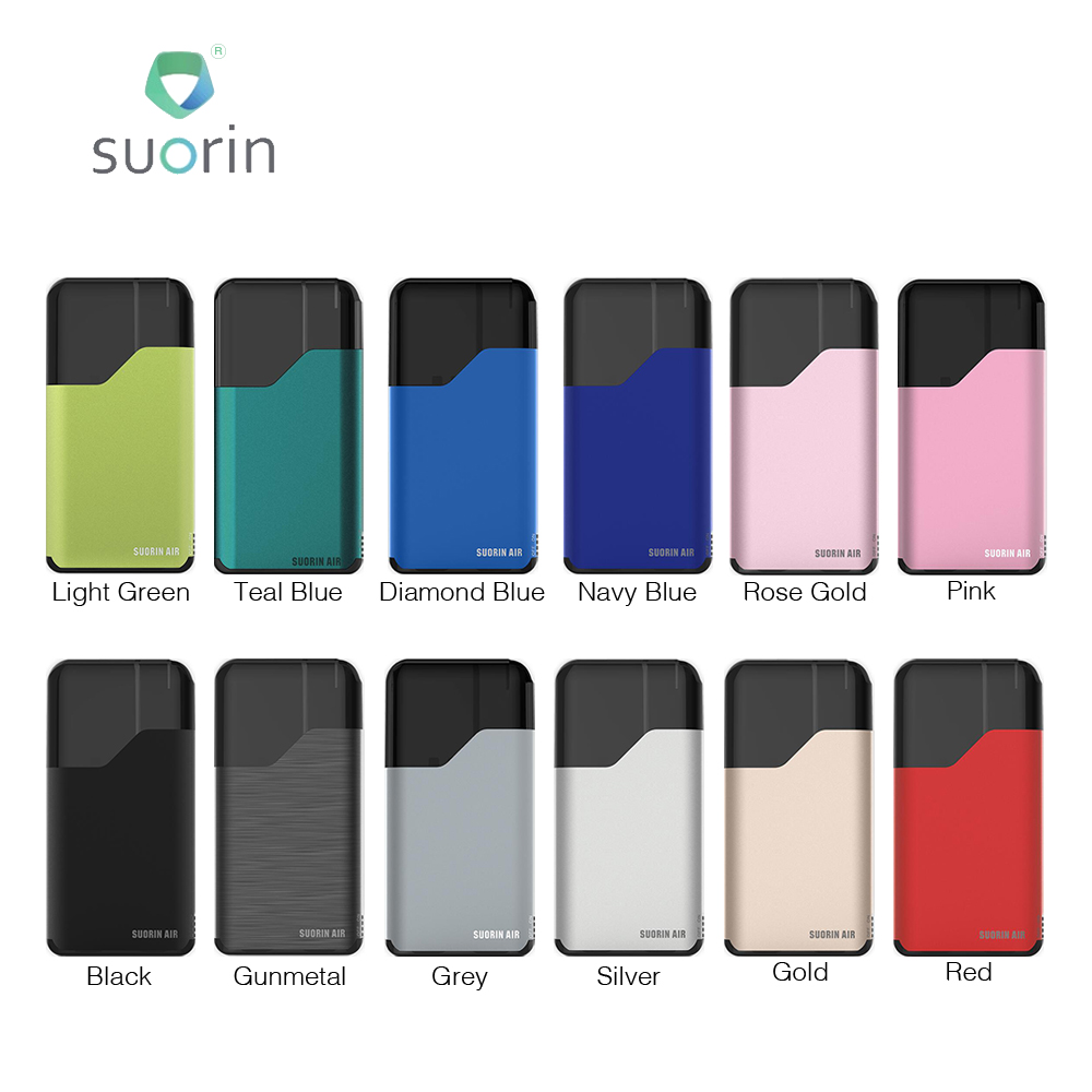 100% Original Suorin Air Starter Kit 400mAh All-in-one E-cig Kit With 2ml Cartridge 16W Power Easy Carry Electronic Cigarette