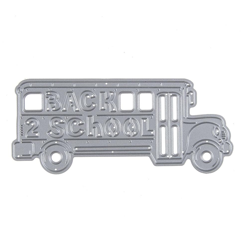 122*53,5mm Präge Stahl schule bus Stanzformen Schablonen DIY ...