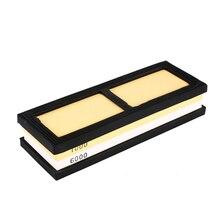 1000 #6000 # beruf Küchenmesser Grit Schärfen Bleistiftspitzer Wasser Stein Dual Schleifstein für Messerschärfer System Mit Basis