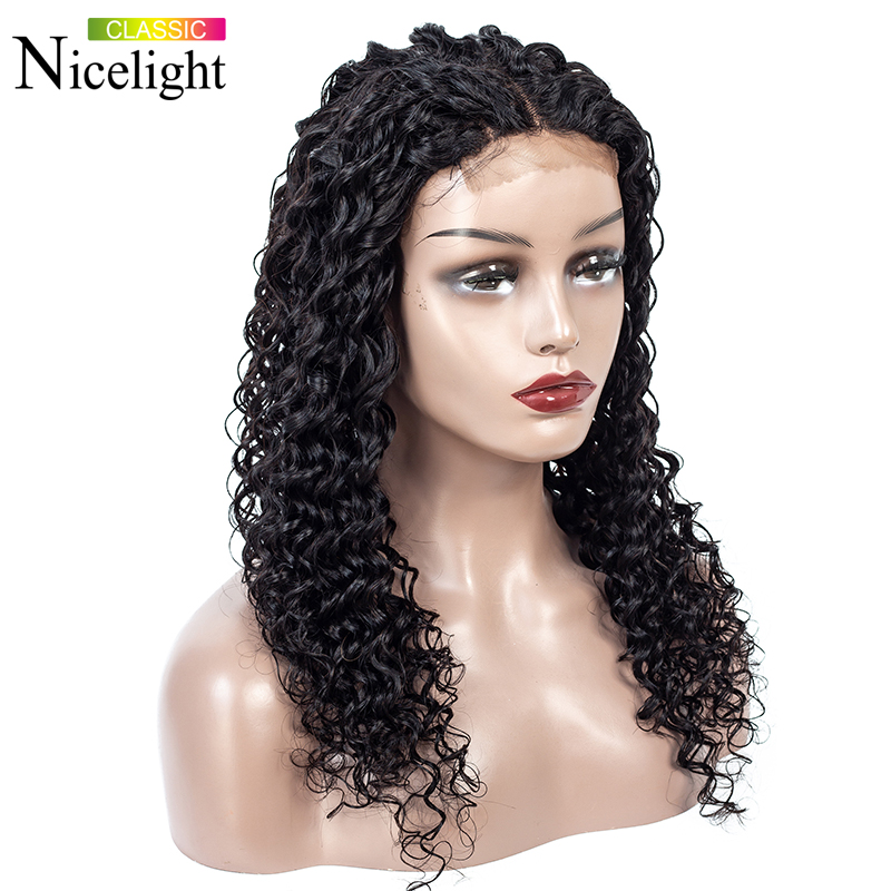 Deep Wave Wig Short Human Hair Wig Lace Wig Malaysian Hair Wig Lace Closure Wig Remy Hair 4X4 Closure Wigs Nicelight8-24Inch