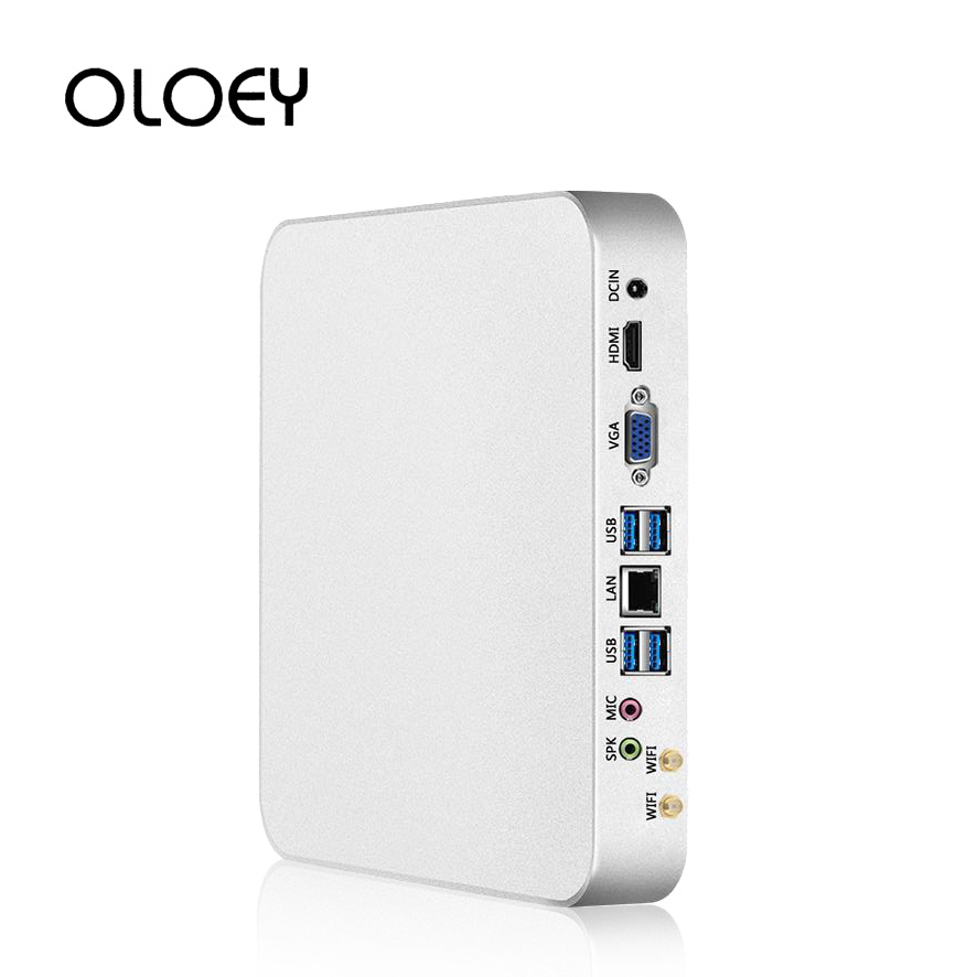 OLOEY Mini PC Intel Core I7-4500U Windows 10 8GB RAM 480GB SSD 300Mbps WiFi Gigabit Ethernet 4K UHD HDMI VGA 6*USB