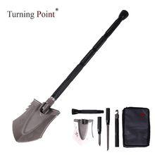 Поворотным моментом ТЦ ХФ легкий вес мини лопата для Кемпинг пеший туризм и выживание с фонариком