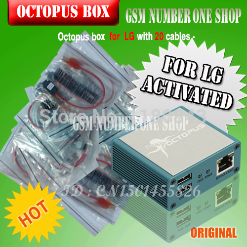 gsmjustoncct Octopus Box for LG Activation With 20 in 1 Full Cable Set for LG Unlock