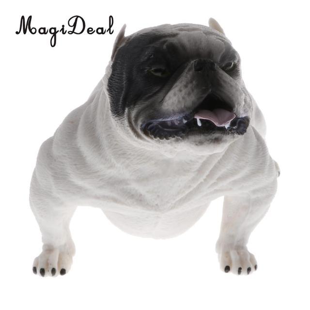 MagiDeal Lifelike American Door Guard Bully Dog Pitbull Plastic