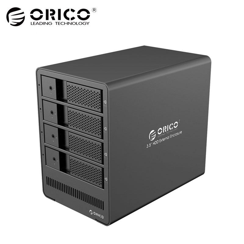 ORICO Без алюминия Алюминиевый 4 отсека 3.5 USB3.0 для SATA HDD Корпус 4 отсека Док-станция для жесткого диска Чехол для ноутбука HDD чехол для ноутбука (9548U3)