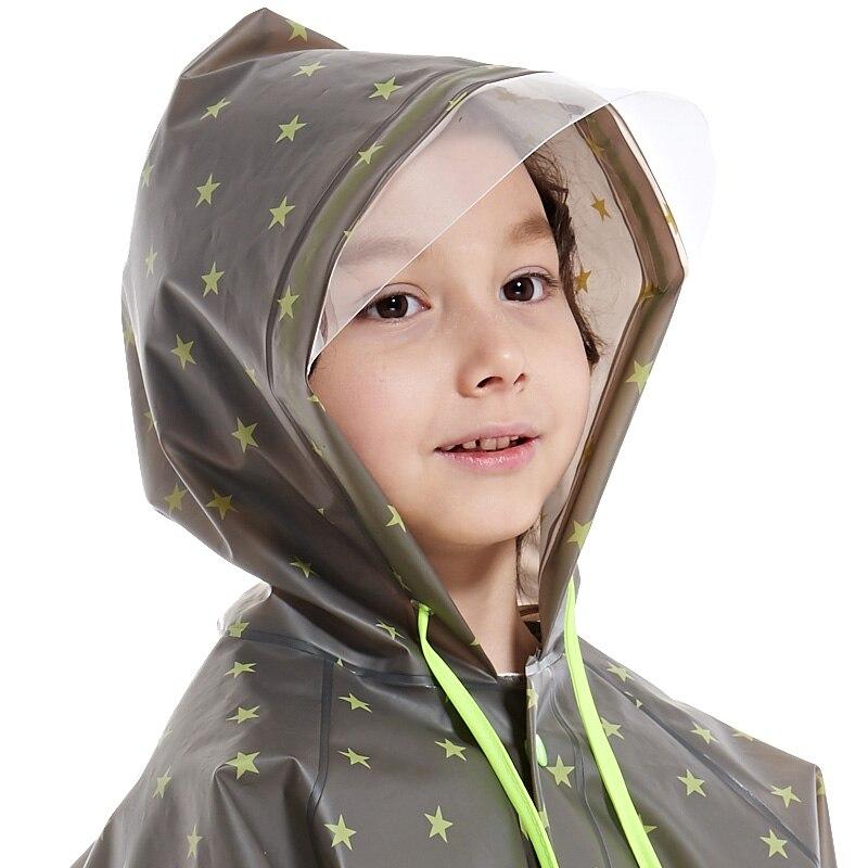 Yuding Long Raincoat Schoolbag Hooded-Impermeable Reusable Kids Children EVA Boys Tour