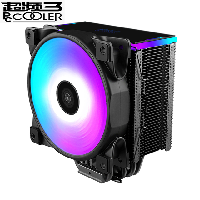 Pccooler 5 Heatpipe CPU cooler RGB 5V 3pin 12cm fan for Intel 1366 AMD AM4 AM3 radiator heatsink CPU cooling 120mm quiet PC fan