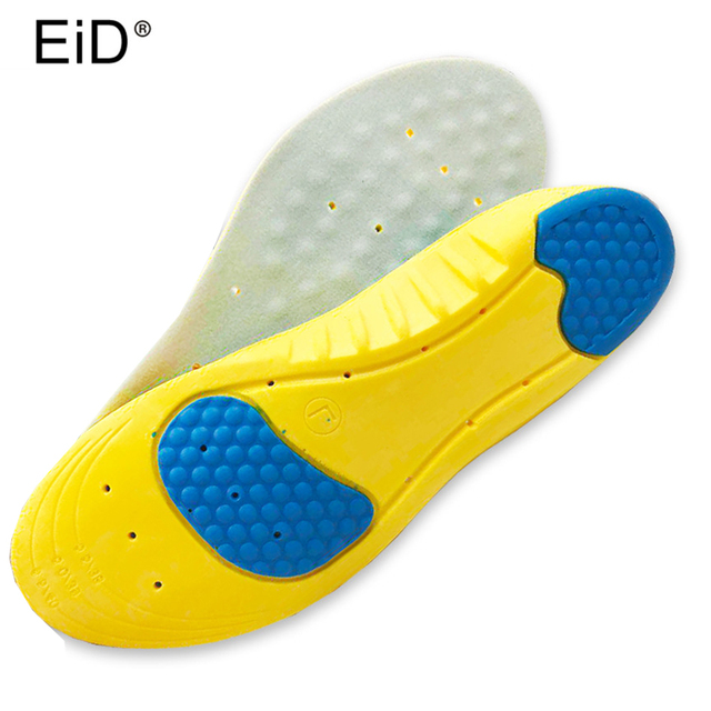 EID lexible Cushioning Sports Insoles Women or Men Shoes Pad Gel Orthopedic Absorb Sweat Breathable Deodorant Military Insoles