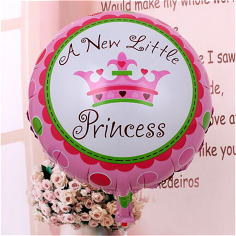 1 piece  Imperial crown balloon 2 color foil thick princess and princess balloon