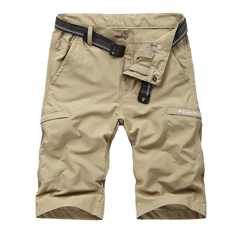 Summer Shorts Men Military Casual Short Homme Quick Dry Thin Bermudas Masculina Beach Shorts Plus Size L-4XL Men Short