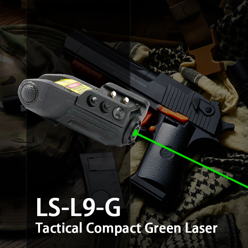 Laserspeed Tactique Mini Pistolet Vert Point Laser Réglable Compact Sight Fit Rail Mount 20mm Chasse Scopes Airsoft Vert Lazer