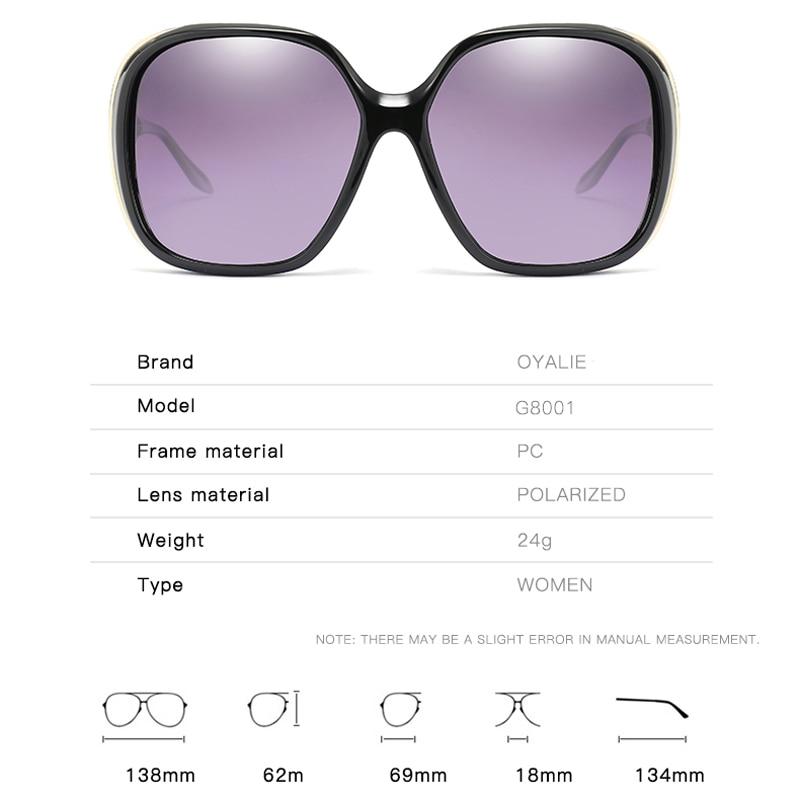 Oyalie Square Le Marca Dell'annata Da Femminile Per Lusso Progettista Del G8001 Di Gafas c2 Sole Oculos Polarizzati G8001 Signore Donne Occhiali oyalie Delle Fashion c1 rnF8rW
