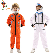 Astronaut Costume Helmet Children's-Day Jumpsuit Dressup with for 2-Color Kids Party