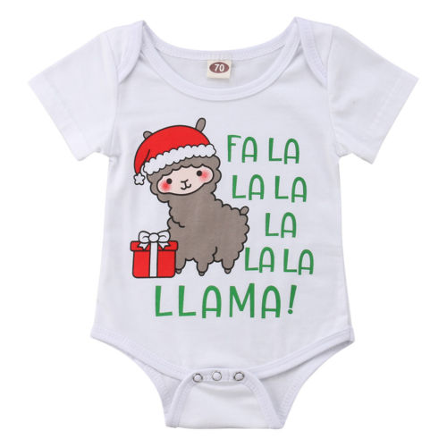 New 2018 Christmas   Romper   Infant Baby Girl Short Sleeve   Romper   Jumpsuit Outfits Sunsuit Clothes