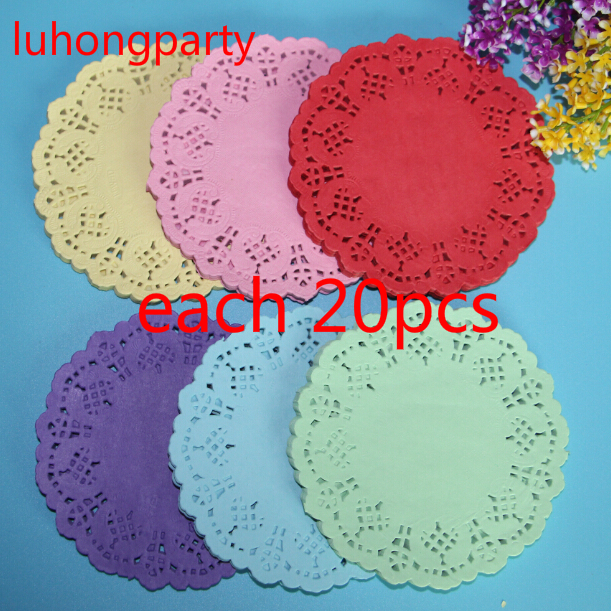 120pcs 5 5 quot Mixed 6Colors Paper Lace Doilies Placemat for Party Decoration Supplies amp Wedding Festival Scrapbooking Craft in Mats amp Pads from Home amp Garden