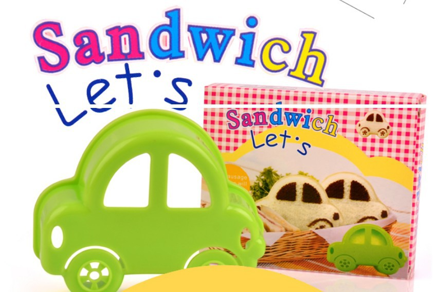 Super Cute Green Car Sandwich Bread Maker Mold Cutter Diy Tool