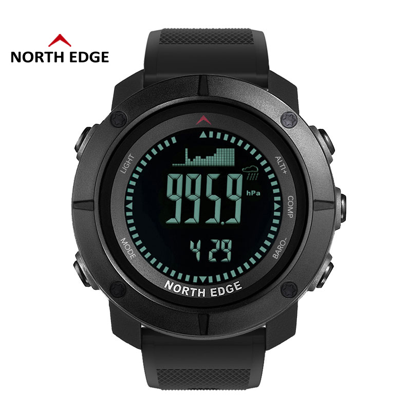 NORTH EDGE Men s sport Digital watch Hours Running Swimming Military Army watches Altimeter Barometer Compass
