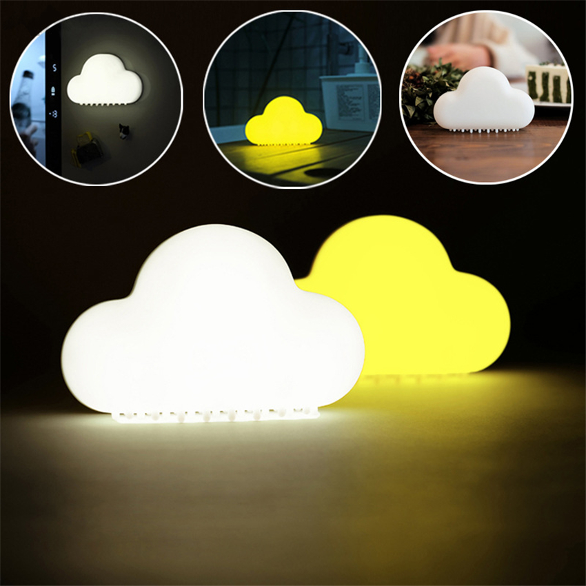 The Best Lfh Novelty Cloud Night Lights Wireless Wall Lamps Led Usb Voice/touch Sensor Lamp For Kids Children Room Decor Rechargeable In Short Supply Desk Lamps
