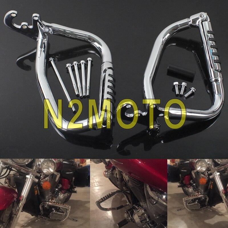 Motorrad Motor Schutz für Honda VTX1800 VTX 1800 C F N R S T 2002-2008 Chrom Autobahn Crash bar Stoßstange Wache Schutz