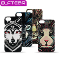 Fluorescente pintura 3d animal dos desenhos animados phone case capa para iphone 5 6 6 s 6 6 s plus para iphone 7 7 plus matte rígido pc cobrir
