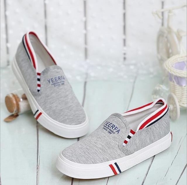 2016 summer new women's casual canvas shoes lazy girls shoes fashion flat casual canvas shoes