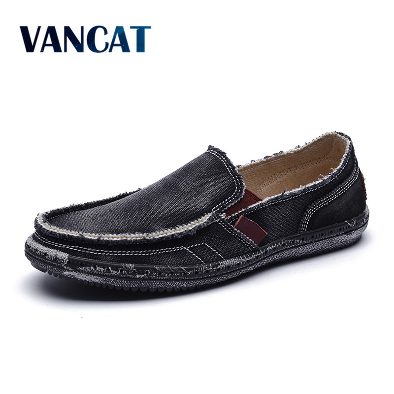 Big Size 39-47 2017 Summer Casual Men Canvas Shoes Breathable Flats Men Casual Shoes Slip On Men Fashion Jeans Canvas Lazy Shoes