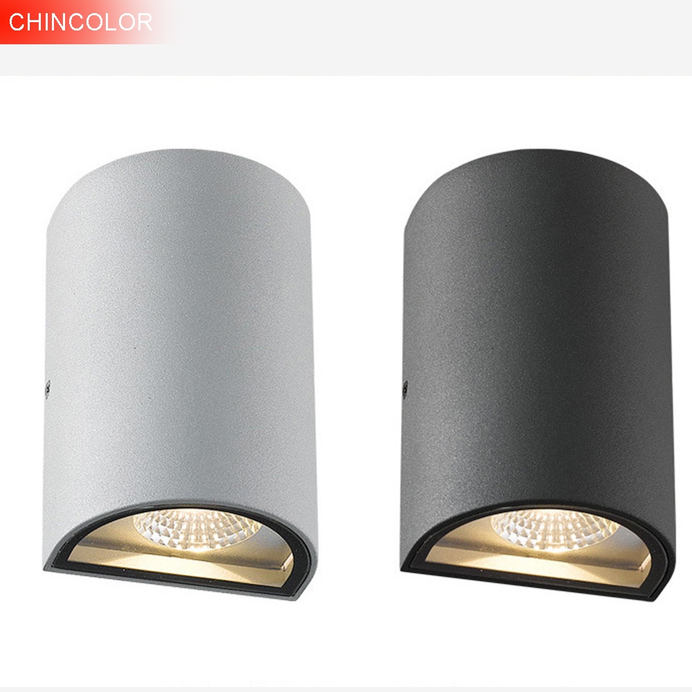 LED Wall Light 6W Half Cylindrical Porch outdoor wall lamp AC85-265V High quality up and Down FoHallway Corridor Wall Light DA