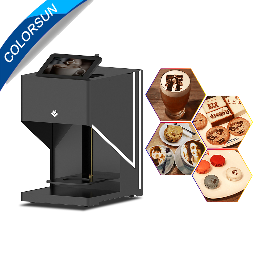 Colorsun Wifi stampante Automatica del caffè di colore marrone latte art caffè stampante 600*600 dpi di caffè macchina da stampa con tablet
