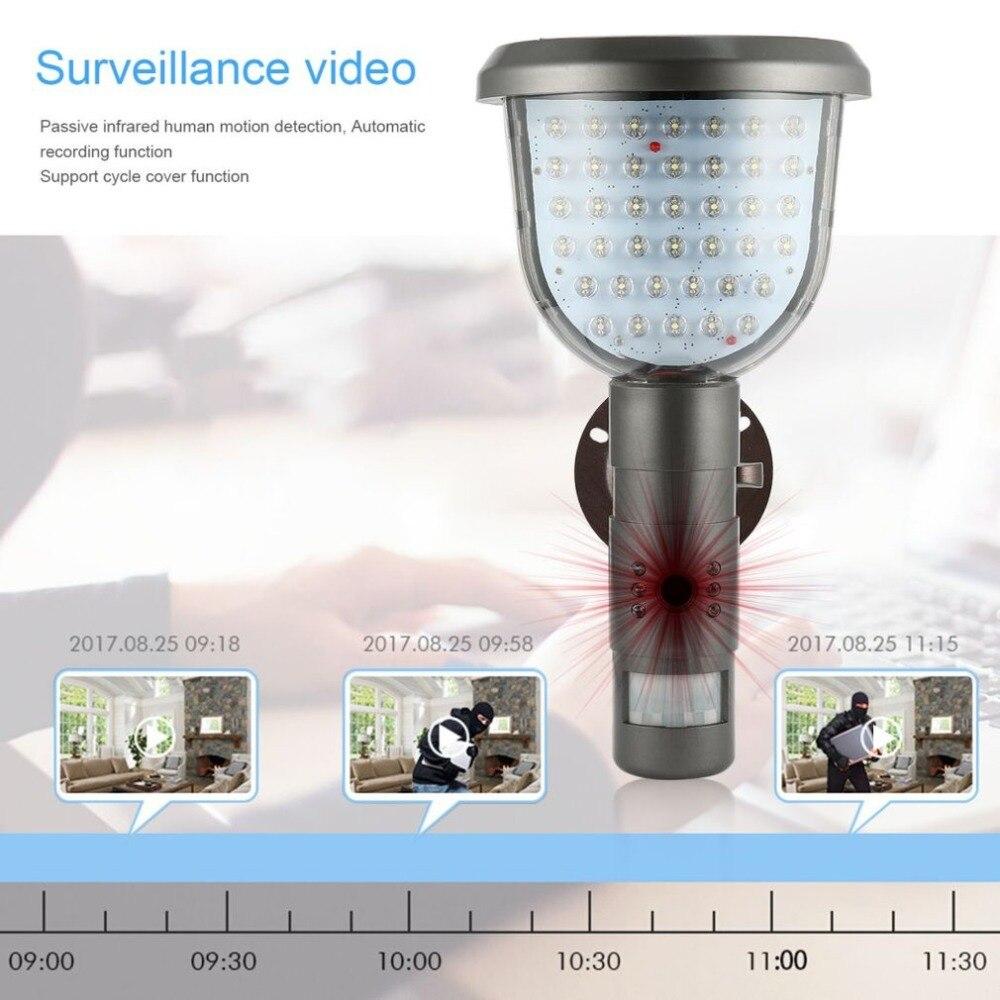 IR Câmera De Segurança DVR Solar 39 IR À Prova D' Água Solares PIR Motion Detection Gravação de Vídeo (8 GB)