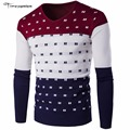 2016 High Quality Casual Sweater Men Pullovers Brand Winter Knitting Long Sleeve V-Neck Slim Knitwear Sweaters size M-XXL