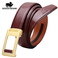 BISON DENIM Top Layer leather Belts for men's Luxury Genuine Leather Belt Cowskin ,BELT WOMEN ,Automatic buckle belt N70948