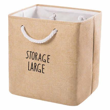 Algodão e linho portátil multi-purpose tecido cesta de armazenamento cesta de armazenamento de desktop cesta de armazenamento de detritos caixa de armazenamento lanche sto