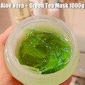 Природные Ремонт Кожи Алоэ Вера + Зеленый Чай Маска 1000 г Лица Восстановить Поврежденные Маска Для Сна Оборудование Для Салонов Красоты