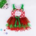 Sleeveless Vest Tutu Dress Toddler Princess 0-4Years Festival Gift Gergeous Vestido Menina Festa Santa Claus Christmas Costumes