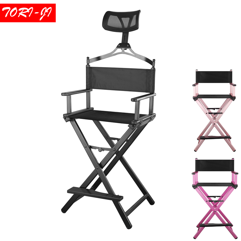 Tori-ji Aluminum Frame Makeup Artist Director Chair Foldable Furniture Lightweight Portable Folding Director Makeup makeup artist folding director s chair aluminum frame light weight golden color for indoor outdoor use director chair foldable