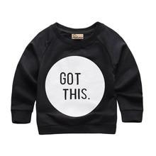 New 1-6Y Kid Boys Girls Pullover Long Sleeve Casual Hoodie Long Sleeve Black and Gray Colors Tops Baby Sweatshirt