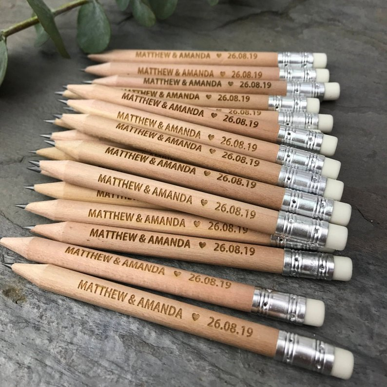 Wedding Gift Save The Date Wooden Pencil Use In Wedding Invitations Personalised Birthday Gift Engraved Handmade Wood Ball Pen