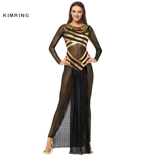 kimring egyptian queen halloween costume egypt carnival cosplay fancy dress adult women cleopatra costume dress