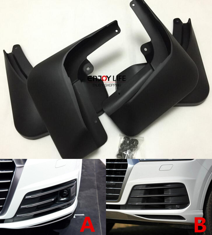 4pcs Black Front Rear Mudguard Mud Flaps Splash Guard Fender For AUDI Q7 / Sport 2016 Car Styling стоимость