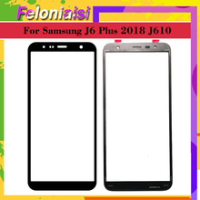 10Pcs/lot For Samsung Galaxy J6+ J6 Plus 2018 J610 J610F SM-J610F/DS Touch Screen Outer Glass TouchScreen Lens Front Panel аксессуар чехол zibelino для samsung galaxy j6 plus j610f 2018 book red zb sam j610f red