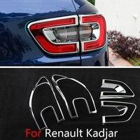 For Renault Kadjar 2018 2017 2016 2015 Car Taillight Tail Lights Chrome Trim Chromium Cover External Decoration Auto Accessories