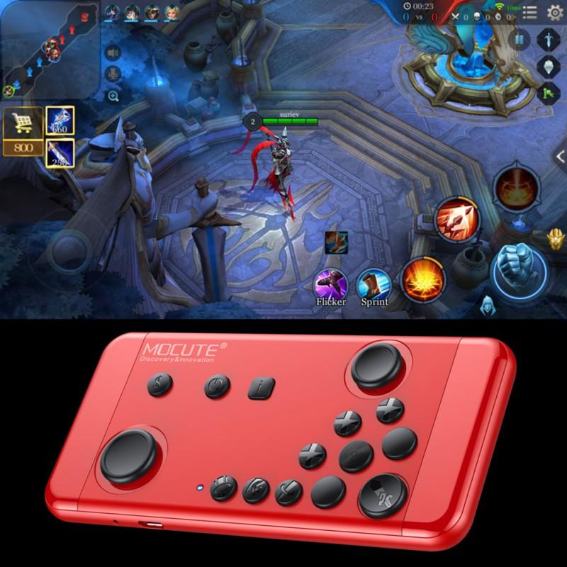 MOCUTE Wireless Bluetooth Gamepad for Mobile Game Handheld Joystick Console 4 Android iOS iCade Smartphone TV Box PC