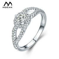 MDEAN White Gold Color AAA Zircon Rings For Women Wedding Fashion Accessories Jewelry Bijoux Bague MSR839