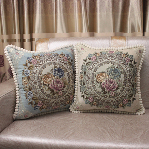 Image 2 - CURCYA Luxury Chenille Jacquard Elegant Cushion Covers for Sofa Home Decorative Pillow Case Cover European Floral Christmas Gift