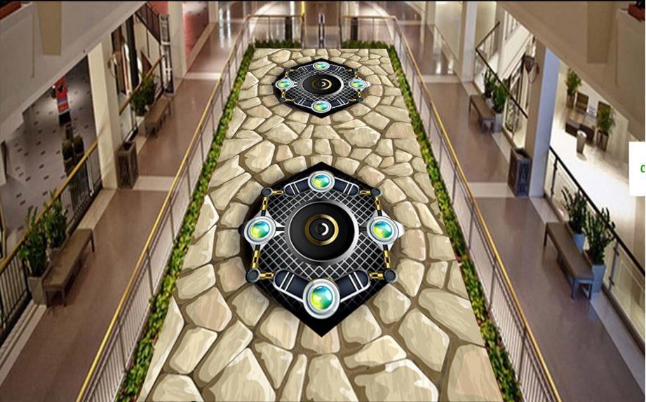 Cool Bathroom Vinyl aliexpress : buy europe 3d floor stone custom cool 3d floor