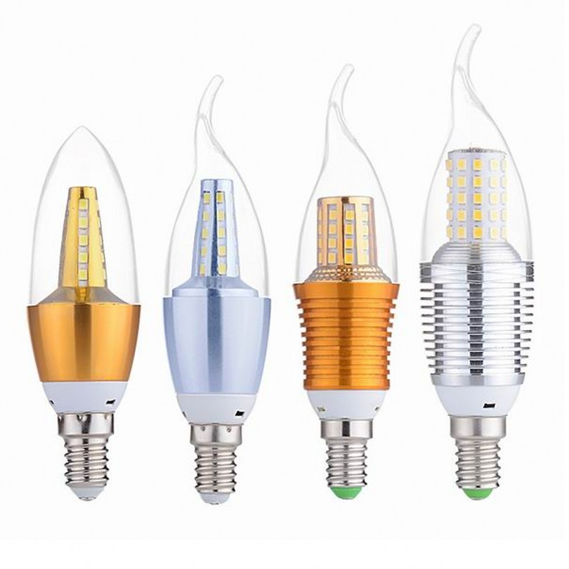 High Light Long Life E27 E14 Led Candle Energy Saving Lamp Light Bulb Home Lighting Chandelier