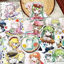 40pcs/bag Hatsune Miku Emoticon Cartoon album Scrapbook waterproof decoration stickers DIY Handmade Gift Scrapbooking sticker(China)