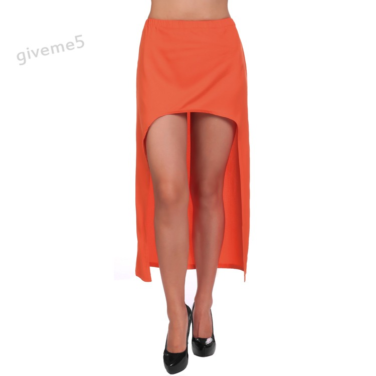 d80cbd4034 New fashion summer Style Sexy Asym Hem Chiffon Skirt High Low Asymmetrical Long  Maxi Dovetail skirt High Waist 3 Colors 35-in Skirts from Women's Clothing  ...